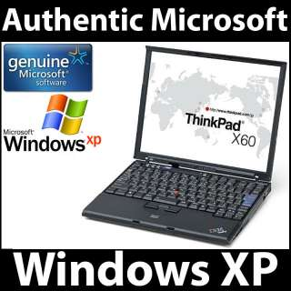 IBM ThinkPad X60 Core Solo 1.66GHz 1GB RAM 40GB HDD WindowsXP Laptop