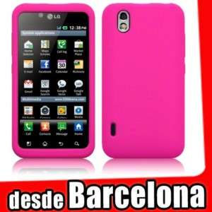 Funda Silicona LG OPTIMUS BLACK p970 color ROSA FUCSIA