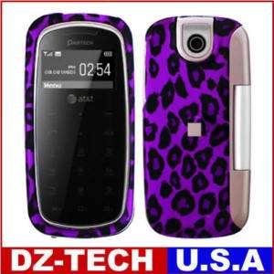 Purple Leopard Hard Case Cover for Pantech Impact P7000