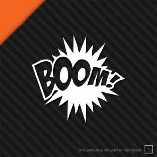 Boom   Cartoon Superhero Sound Notebook Vinyl Sticker