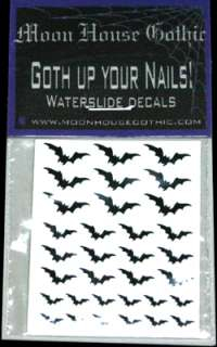 Gothic designer nail art, exclusive waterslide decals for sale by moon