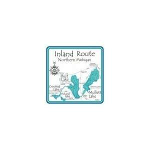 Inland Route 4.25 Square Absorbent Coaster: Kitchen