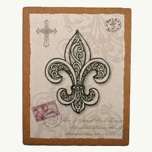 18 Fleur De Lis Cork Board Plaque: Home & Kitchen