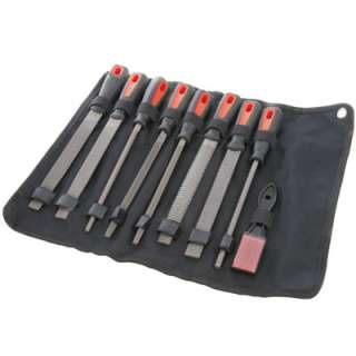 Pc 8Inch Metal File & Rasp Tool Set   With File Brush & Wallet