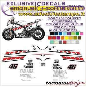 KIT ADESIVI DECAL STICKERS YAMAHA R1 R6 REPLICA M1 VALENCIA 2005 46
