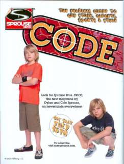 DYLAN & COLE SPROUSE   11 x 8   PINUPS   POSTERS
