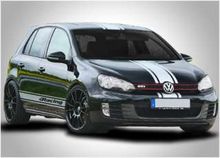 VW Volkswagen Golf GTi full racing stripes stickers graphics decals