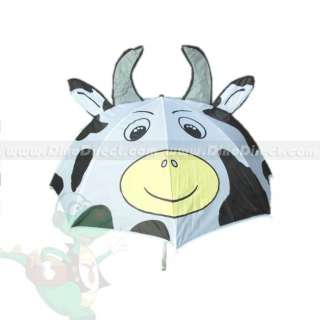 Wholesale Children Dairy Cattle Cartoon Style Rain Sun Manual Long