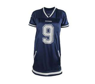 NFL Dallas Cowboys Tony Romo Womens Naomi Jersey Dress   QVC
