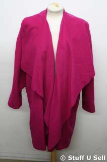 Purple Wool / Cashmere Blend Ladies Winter Coat Jacket Size S