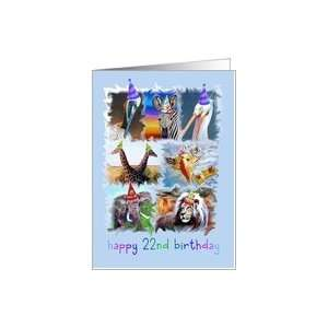 Happy 22nd Birthday Zoo Animals Card: Toys & Games