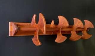 Vtg Mid Century Danish modern ESA teak wood spice rack