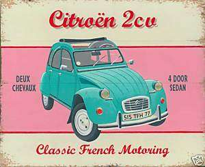 Citroen 2CV car art poster print by Martin Wiscombe