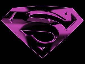 Pink Superman Logo Ladies T Shirt XS S M L XL New Tags