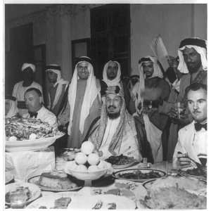 King Abdul Aziz Bin Al Saud of Saudi Arabia: with others