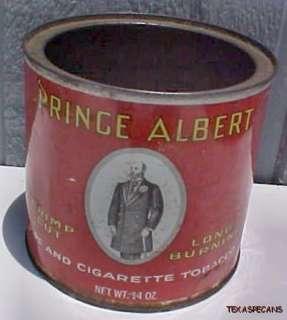 tin48, PRINCE ALBERT ROUND TOBACCO TIN CAN CRIMP CUT
