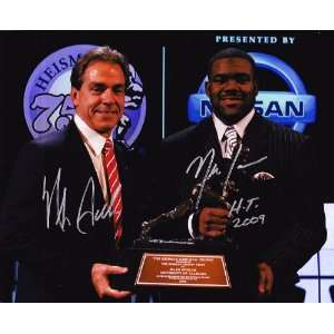Mark Ingram & Nick Saban signed autographed 8 x 10 photo Alabama