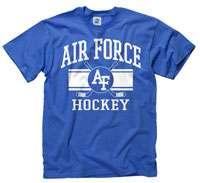 Air Force Falcons Royal Wide Stripe Hockey T Shirt
