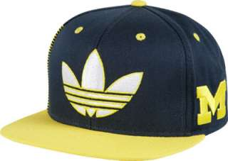 Michigan Wolverines adidas Flat Brim Adjustable Snapback Hat