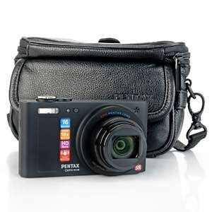 PENTAX Optio RZ18 16MP 18X Optical Zoom HD Camera with Leather Case