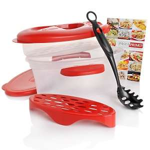 Pasta Primo™ Microwave Pasta Cooker and Steamer Kit with Cookbook at