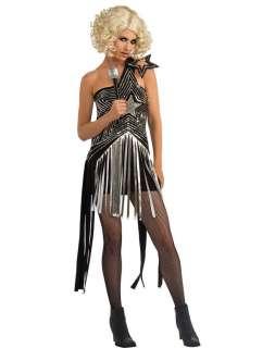 Lady Gaga star dress costume 92% polyester, 8% spandex Elastic back