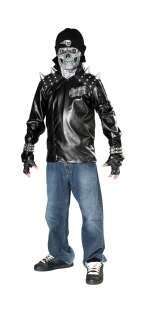 Teen Scary Skull Biker Costume   Scary Teen Halloween Costumes