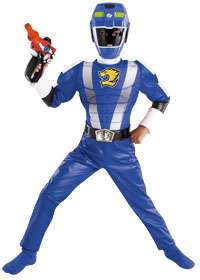 Deluxe Muscle Blue Ranger Costume   Disneys Power Rangers Costumes