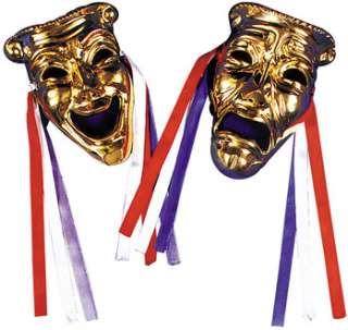 Comedy/Tragedy Faces,Brass. Approximately 6 tall. Beautifully