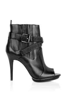MICHAEL Michael Kors  Larson Peeptoe Metal Mesh Strap Ankle Boot by