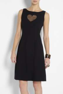 Moschino Cheap & Chic  Sheer Heart Shift Dress by Moschino Cheap