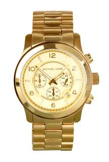 Large Gold Chronograph by Michael Kors Watches   Metallic   Buy