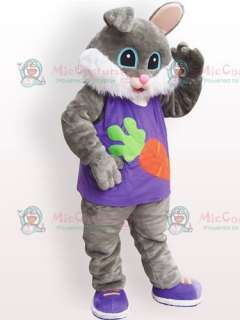 Easter Bunny Rabbit Plush Adult Mascot Costume