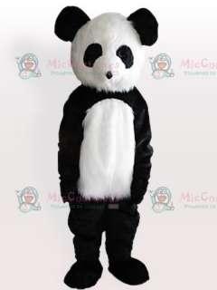 Long Plush Giant Panda Adult Mascot Costume