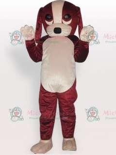 Lucky Dog Short Plush Adult Mascot Costume