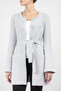 Goat  Silver Grey Miller Belted Knit Coat by Goat