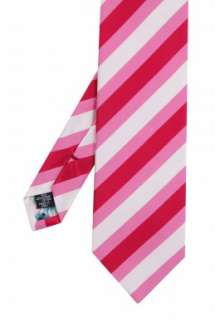 Pink Grosgrain Stripe Tie by Paul Smith Accessories   Pink   Buy Ties