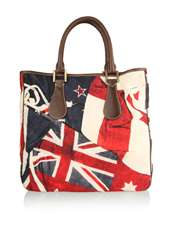 Frankie Union Jack Canvas Tote by Paul Smith Accessories