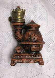 Pot Belly Stove Miniature Oil Lamp, Rope Wick