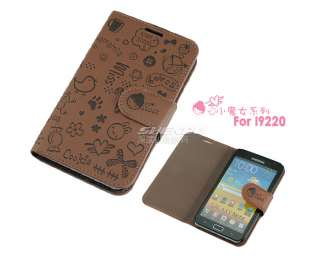Flip Leather Case cover Magic Girl for Samsung Galaxy Note N7000 I9220