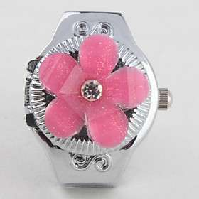 US$ 2.99   Womens Alloy Analog Ring Watch (Silver),  On