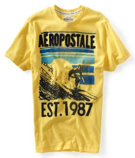 aeropostale mens aero catch the waves graphic t shirt