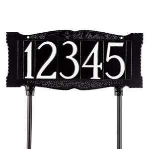 One Line Standard Sized Lawn Address Sign Patio, Lawn & Garden