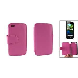 Gino Amaranth Pink Faux Leather Side Magnetic Flap Case