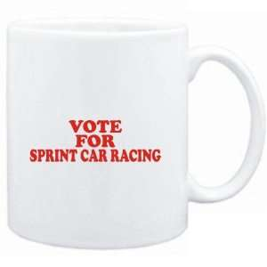 : Mug White  VOTE FOR Sprint Car Racing  Sports: Sports & Outdoors