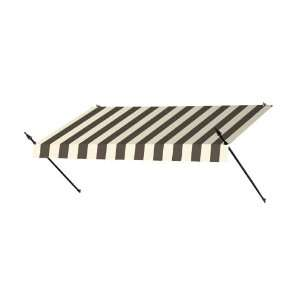 8 Ft. Designer Window Awning Guinness Striped Patio, Lawn