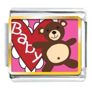 Baby Heart Bear Italian Charms Pugster Jewelry