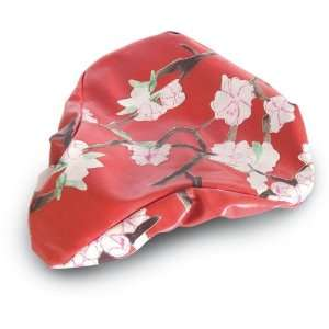 Blossom Twign Bicycle Saddle Raing Cover (Red)