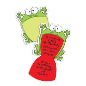 Teens Birthday Party Invitations   Big Mouth Frog Birthday Party