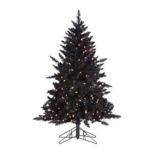 Pre Lit Designer Black Ashley Spruce Artificial Christmas Tree